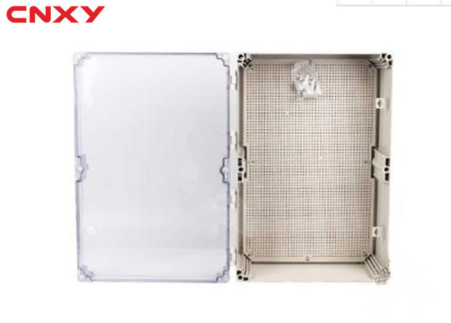 ABS Material Plastic Hinged Box 600*400*190 Mm With Transparent PC Lid