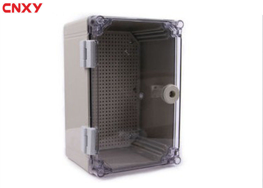 Safety Plastic Hinged Box , Waterproof Terminal Box PC Retardant Material