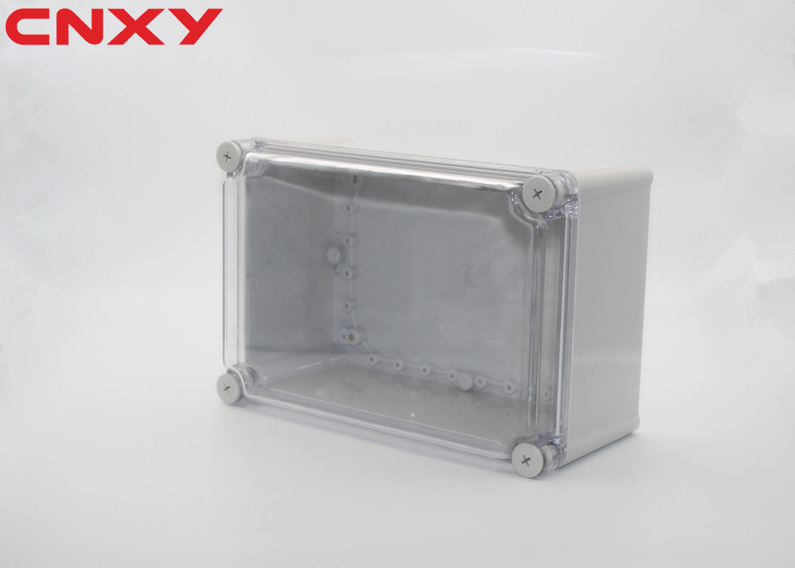Transparent cover custom plastic electronic enclosure waterproof junction box clear waterproof enclosure 280*190*130mm